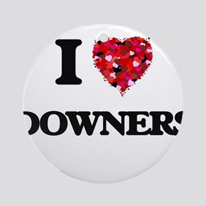 I love Downers Ornament (Round)