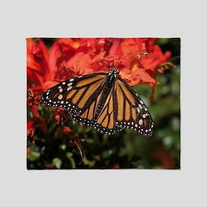 Honeysuckle Monarch Butterfly Beauty Throw Blanket