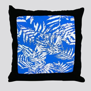 White Palm Leaves Throw Pillow