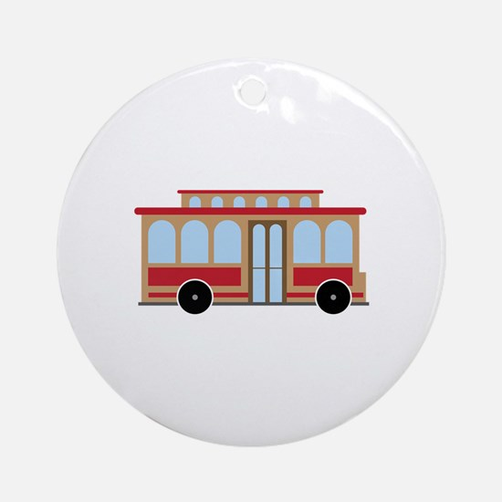 Trolley Ornament (Round)