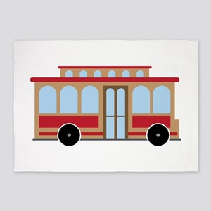 Trolley 5'x7'Area Rug