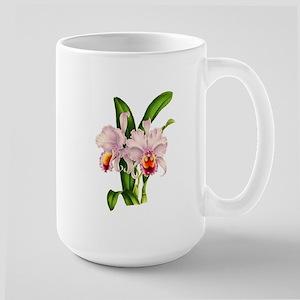 Violet Whisper Cattleyea Orchid Large Mug