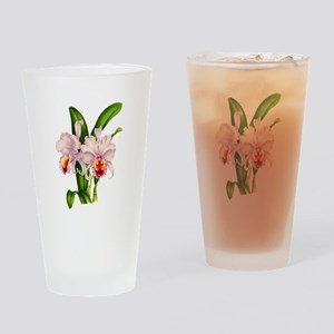 Violet Whisper Cattleyea Orchid Drinking Glass