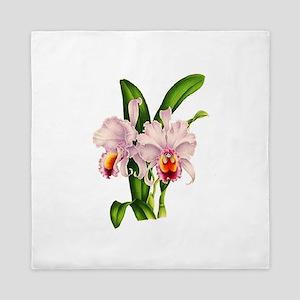 Violet Whisper Cattleyea Orchid Queen Duvet