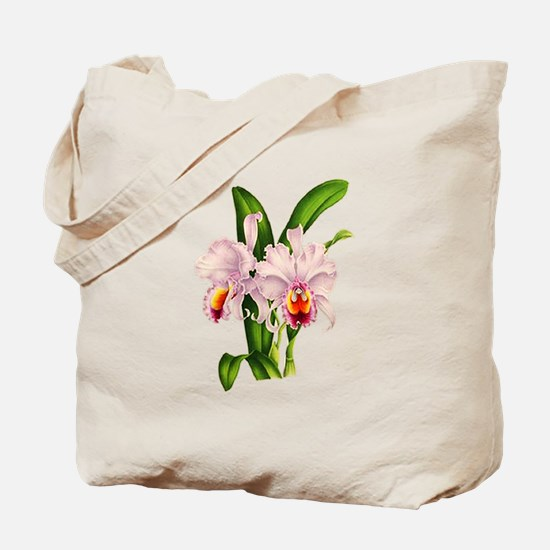 Violet Whisper Cattleyea Orchid Tote Bag
