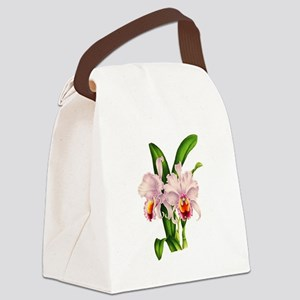 Violet Whisper Cattleyea Orchid Canvas Lunch Bag