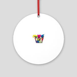 Laundry Basket Ornament (Round)