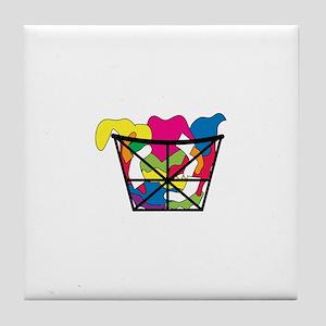 Laundry Basket Tile Coaster