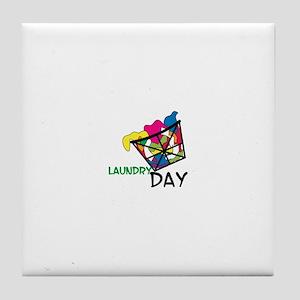 Laundry Day Tile Coaster