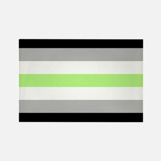 Agender Pride Flag Rectangle Magnet