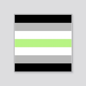 "Agender Pride Flag Square Sticker 3"" x 3"""