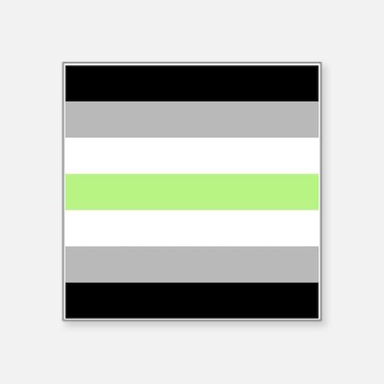 "Agender Pride Flag Square Sticker 3"" x 3"""