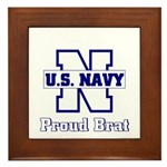 Proud Navy Brat Framed Tile