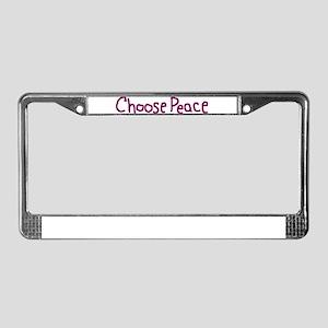 Choose Peace Alabama License Plate Frame