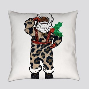 african leopard santa claus Everyday Pillow