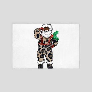 african leopard santa claus 4' x 6' Rug