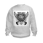 Party Like A Rock Star Kids Sweatshirt