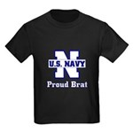 Proud Navy Brat Kids Dark T-Shirt