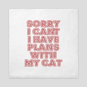 Lazy Cat Excuse Queen Duvet
