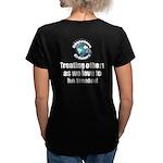 Treating Others Women's V-Neck Dark T-Shirt