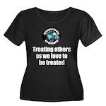 Treating Women's Plus Size Scoop Neck Dark T-Shirt
