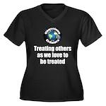 Treating Oth Women's Plus Size V-Neck Dark T-Shirt