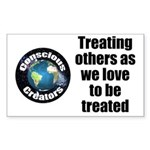 Treating Others Sticker (Rectangle)