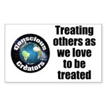 Treating Others Sticker (Rectangle 10 pk)