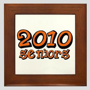 2010 benson orange Framed Tile