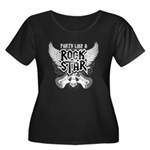 Party Like A Rock Star Women's Plus Size Scoop Nec