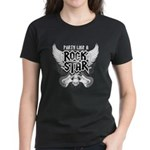 Party Like A Rock Star Women's Dark T-Shirt