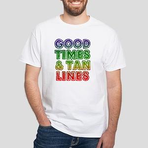 Good Times Tan Lines White T-Shirt