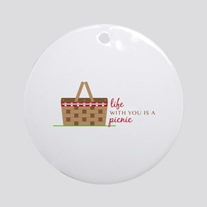 Life Is Picnic Ornament (Round)