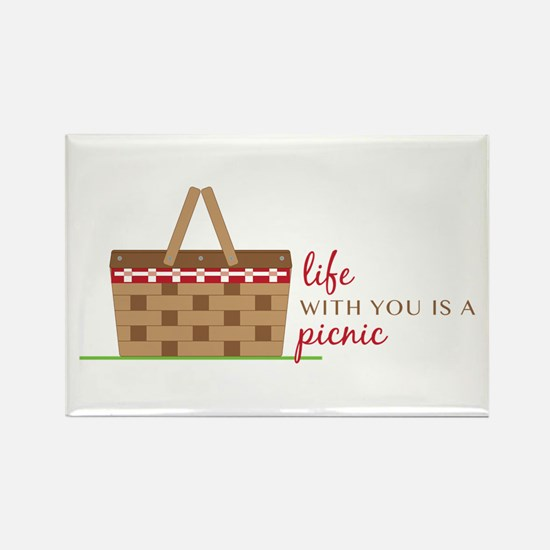 Life Is Picnic Magnets