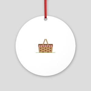 Picnic Basket Ornament (Round)