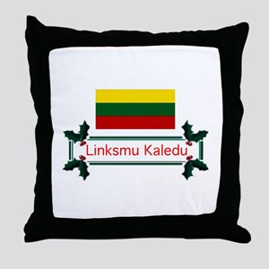 Lithuania Linksmu... Throw Pillow