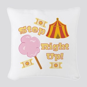 Step Right Up Woven Throw Pillow