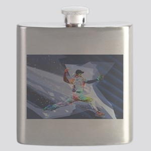 Crayon Colored Baseball Pitcher with cut pap Flask