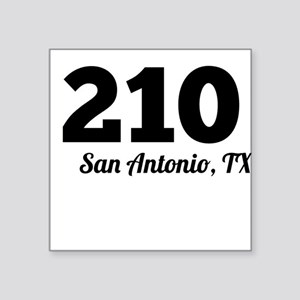 Area Code 210 San Antonio TX Sticker