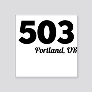 Area Code 503 Portland OR Sticker