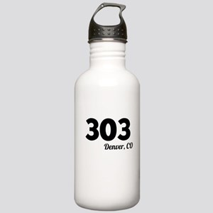 Area Code 303 Denver CO Water Bottle