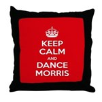 Morris Dancing Throw Pillow