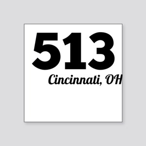 Area Code 513 Cincinnati OH Sticker
