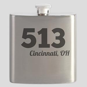 Area Code 513 Cincinnati OH Flask