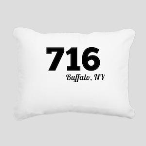 Area Code 716 Buffalo NY Rectangular Canvas Pillow
