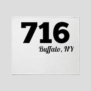 Area Code 716 Buffalo NY Throw Blanket