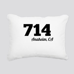 Area Code 714 Anaheim CA Rectangular Canvas Pillow