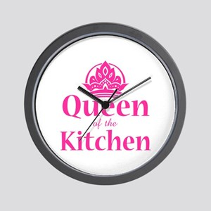 Queen Of Kitchen Wall Clock