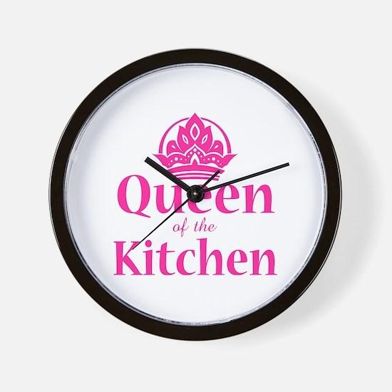 Queen Of Kitchen Wall Clock