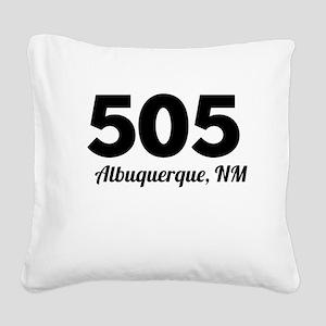 Area Code 505 Albuquerque NM Square Canvas Pillow